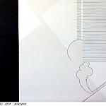 Chablais.  La ligne rouge. 2014. 80 x 60cm