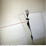 Chablais.  La ligne rouge. 2014. 60 x 60cm